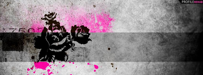 Pink & Black Grunge Roses