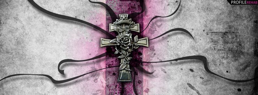 Black & Pink Cross Cover for Timeline