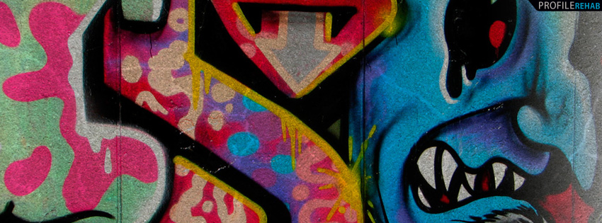 Colorful Graffiti Timeline Cover for Facebook