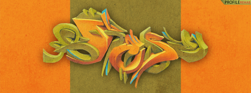 Orange Graffiti Facebook Cover for Timeline