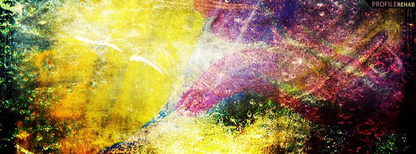 Colorful Abstract Grunge Facebook Cover