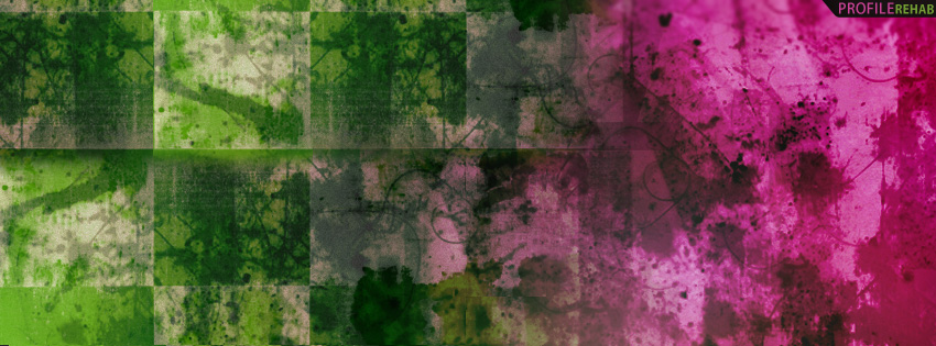 Pink & Green Grunge Facebook Cover