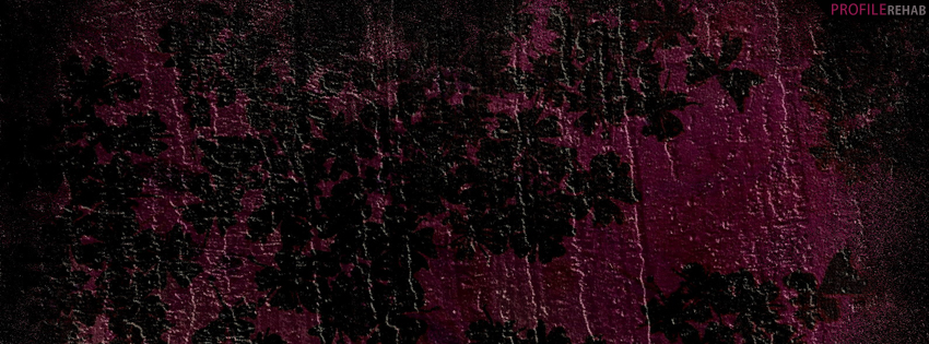 Purple & Black Grunge Facebook Cover
