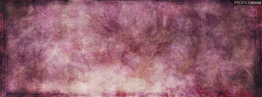 Purple Grunge Flowers Facebook Cover