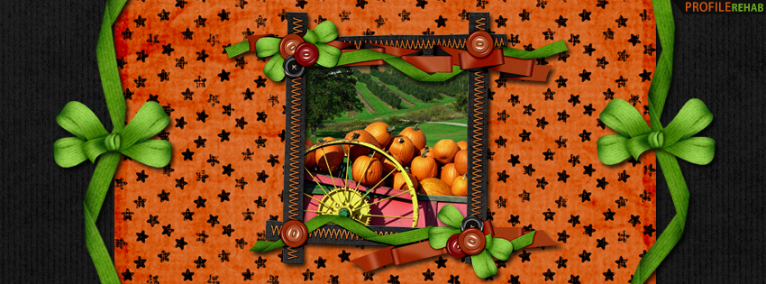 Halloween Fall Pumpkins Facebook Cover - Halloween Pumpkin Images - Cute Pumpkin Picture