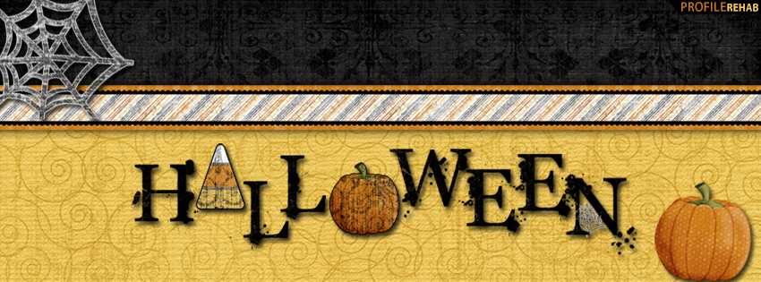 Halloween Text Facebook Cover- Cute Halloween Images to Download