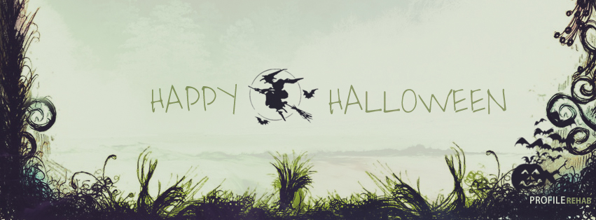 Witch Flying Halloween Facebook Covers - Halloween Pictures Witches