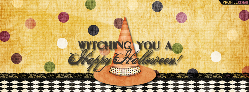 Witching you a Happy Halloween Facebook Cover - Happy Halloween Pictures Facebook