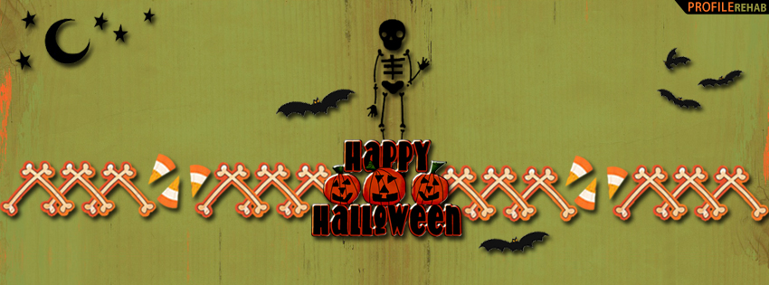 Happy Halloween Skeleton Facebook Cover - Halloween Skeleton Pictures