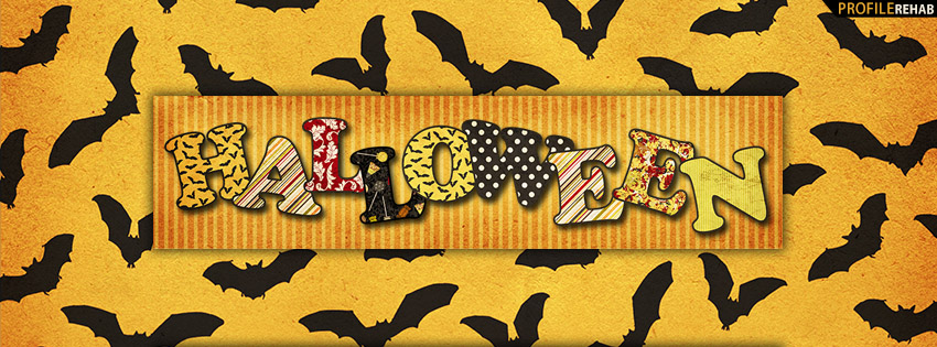 Halloween Bats Facebook Cover - Halloween Bats Images - Halloween Text Art Images
