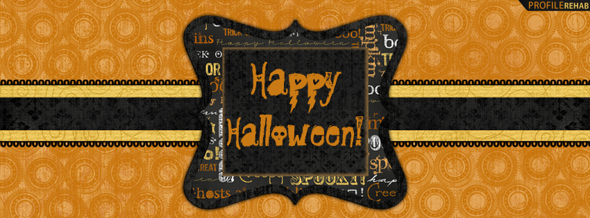 Happy Halloween Facebook Cover for Timeline - Happy Halloween Text Preview