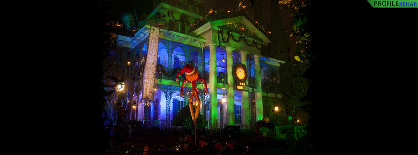 Disneyland Haunted Mansion Facebook Cover - Cool Haunted House Pictures