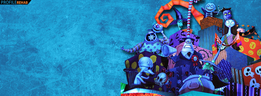 Haunted Mansion Nightmare Before Christmas Facebook Cover  Preview