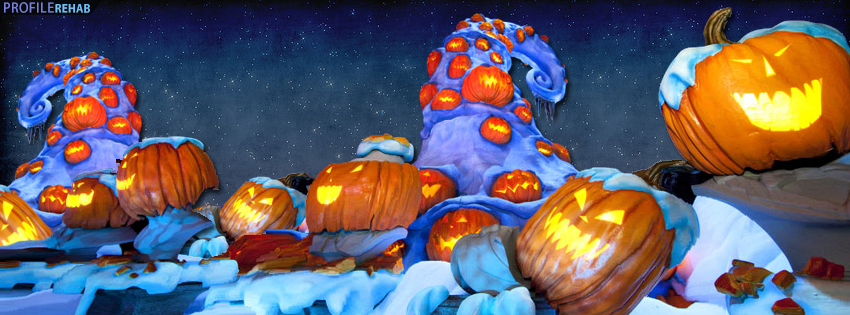 Haunted Mansion Holiday Pumpkin Facebook Cover - Disney Halloween images