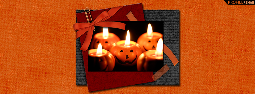 Cute Pumpkin Candles Facebook Cover - Cute Halloween Pumpkins Pictures