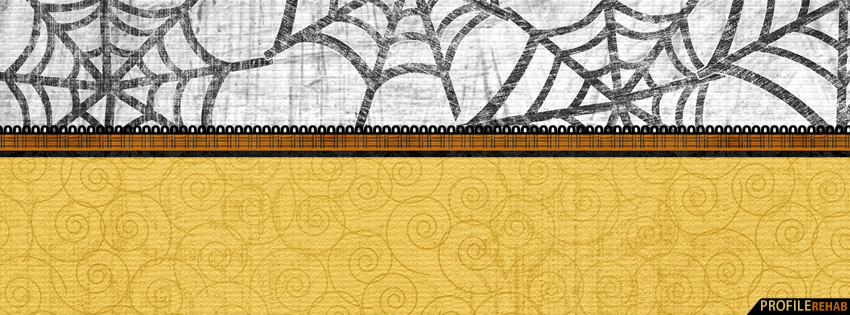 Halloween Spiderweb Facebook Cover - Halloween FB Cover - Banner Halloween Preview