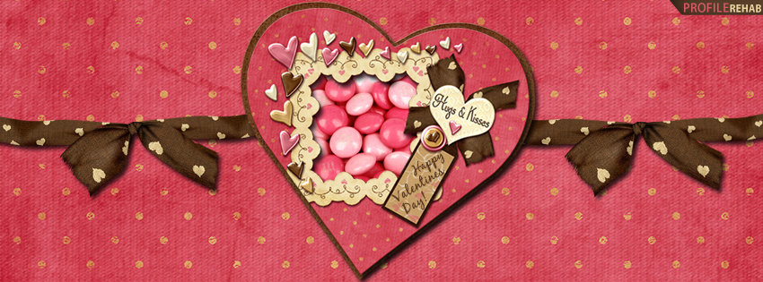 Valentines Candy Facebook Cover - Happy Valentines Graphics