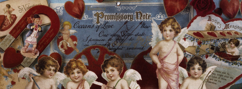 Creative Vintage Cupid Facebook Cover - Cupid Pictures for Valentines Day