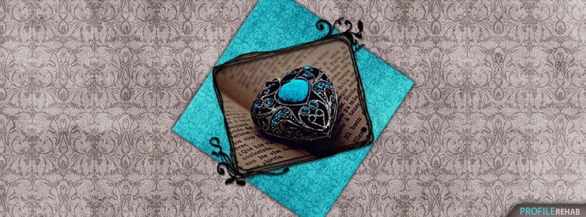 Blue & Silver Heart Charm Valentines Cover