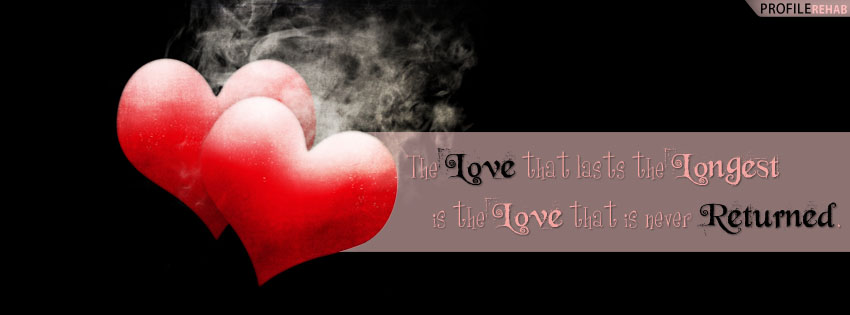 Broken Heart Quote Facebook Cover - Love Quotes Images