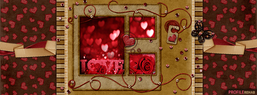 Red & Brown Love Cover - Picture of Love Heart Images
