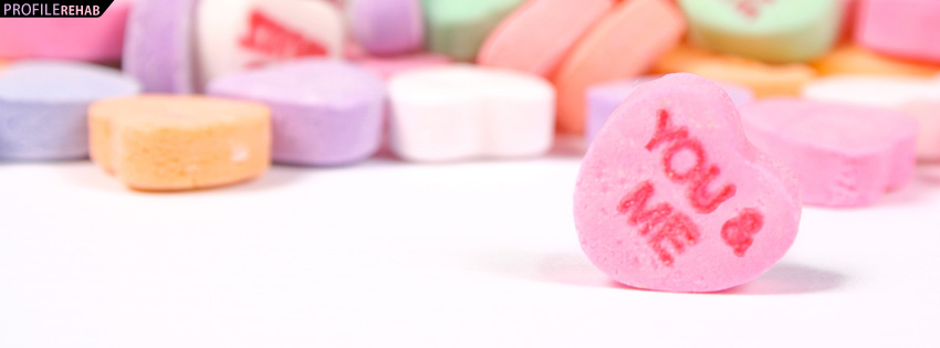 Candy Hearts Facebook Cover - Candy Heart Images