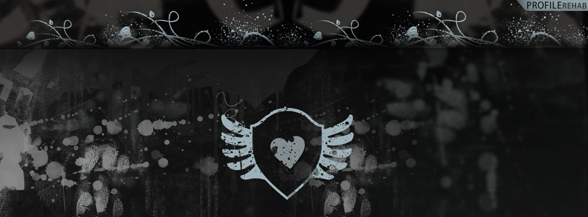 Grunge Heart Facebook Cover