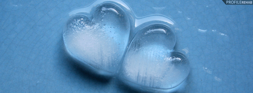 Cool Ice Hearts Facebook Cover - Icy Heart Images