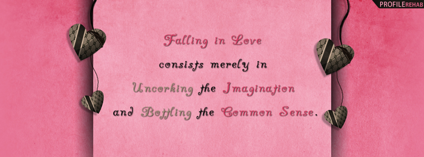 Falling In Love Quote Facebook Cover - Best Valentine Pictures