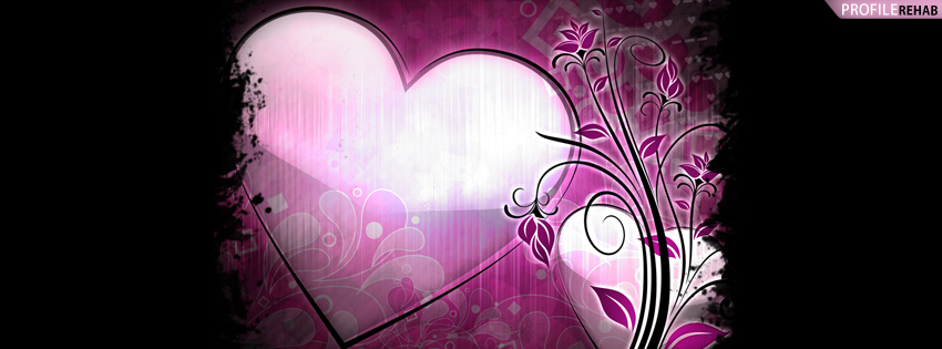 Grunge Splatter Heart Facebook Cover