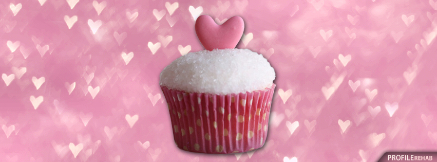 Heart Cupcake Cover for Facebook - Cupcake Heart Pic