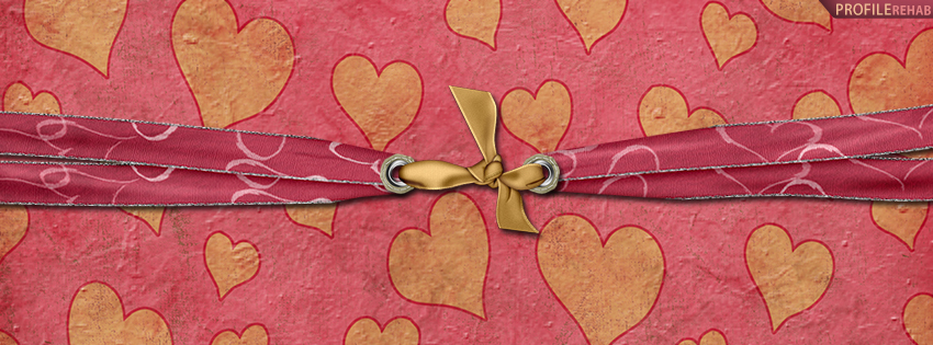 Pink and Yellow Hearts Facebook Cover - Heart Pics