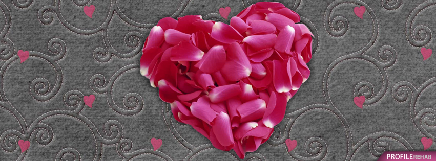 Rose Petal Heart Images for Facebook - Valentine Love Images