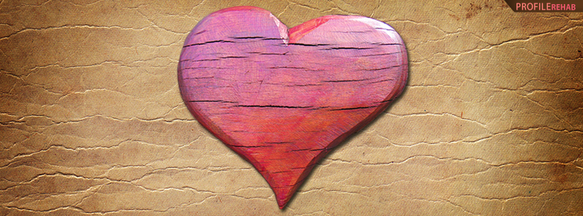 Wooden Heart Facebook Cover  - Cool Picture of Heart
