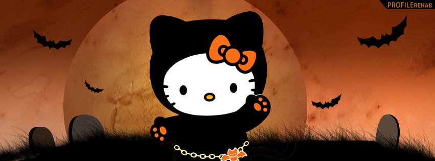 Halloween Hello Kitty Facebook Cover - Happy Halloween Hello Kitty Images