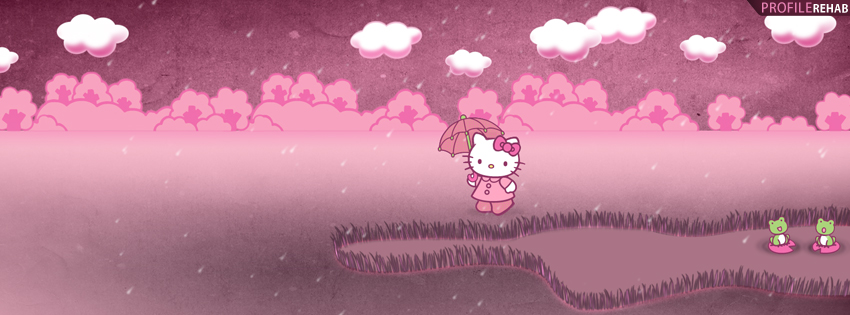 Cute Hello Kitty Facebook Cover