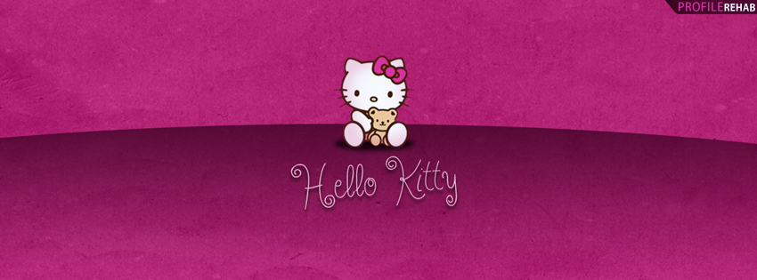 Purple Hello Kitty Facebook Cover