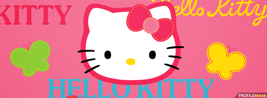 Pink Hello Kitty Facebook Cover for Timeline