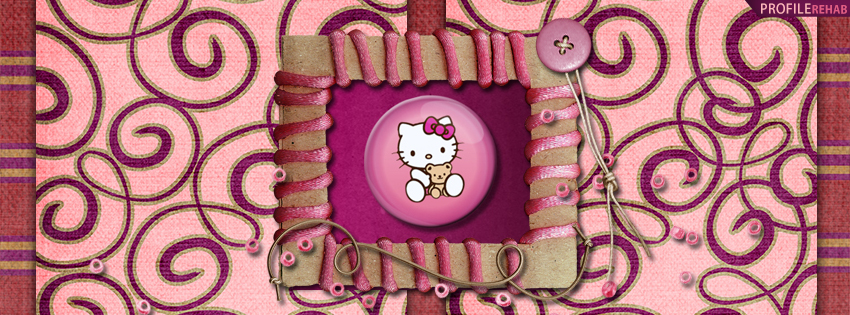Pink Hello Kitty Facebook Cover
