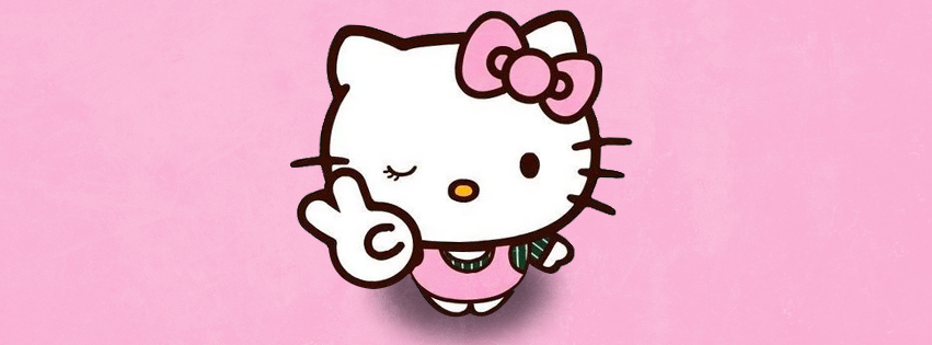 Pink Hello Kitty Facebook Design Preview