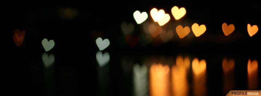 Bokeh Hearts Facebook Cover - Cool Picture of Hearts