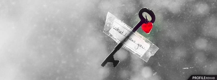 Key to Your Heart Facebook Cover - Heart Picture