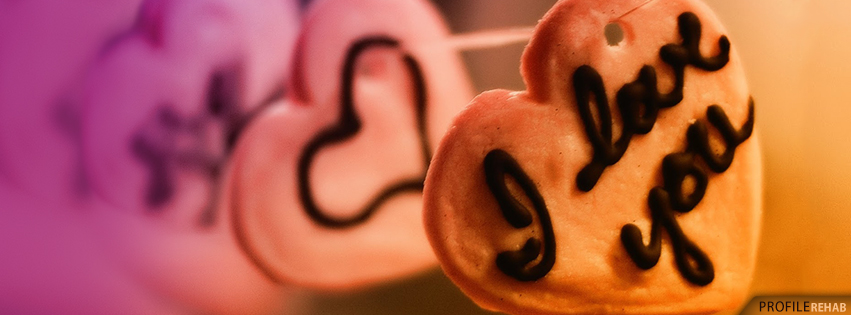 I love you Cookie Cover for Facebook- Picture of a Heart Shape
