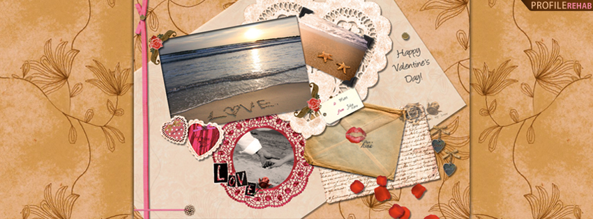Love Written in Sand Timeline Cover - Free Valentine Graphics
