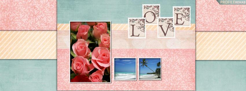 Scenic Love Quote Cover with Roses