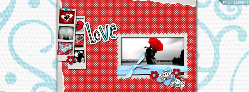 polkadot love facebook cover 1 اغلفة فيس بوك عيد الحب 2015 Valentines Day Cover