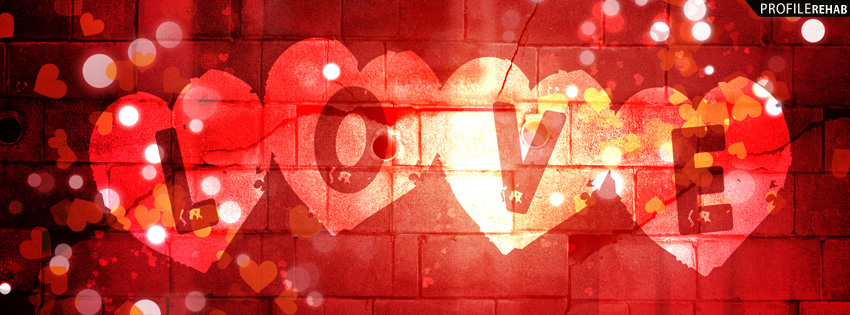 Red Love Text Facebook Cover - Love Images Free Download