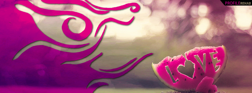 Cute Watermelon Love Facebook Cover - Love Images Download