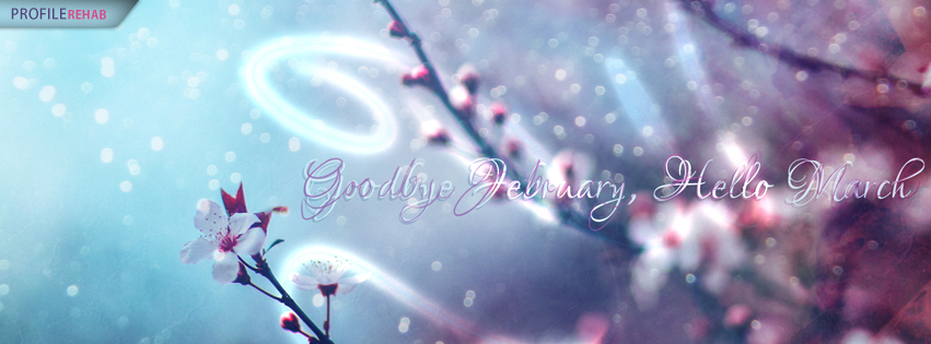 Goodbye February Hello March Images for Facebook Covers