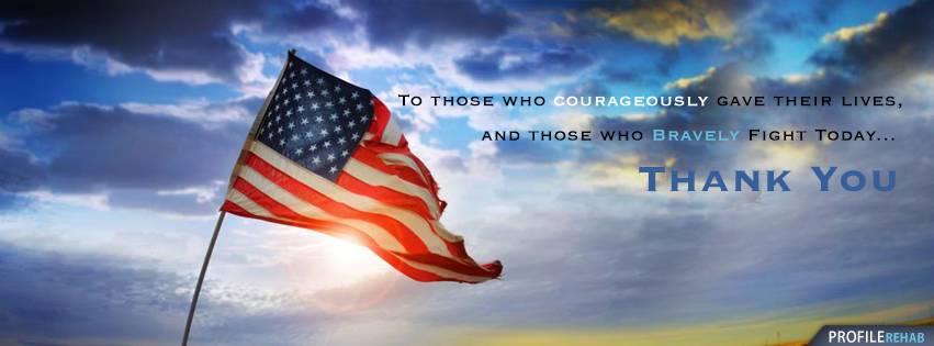 4th of July / Memorial Day Facebook Cover with American Flag - Memorial Day Photo